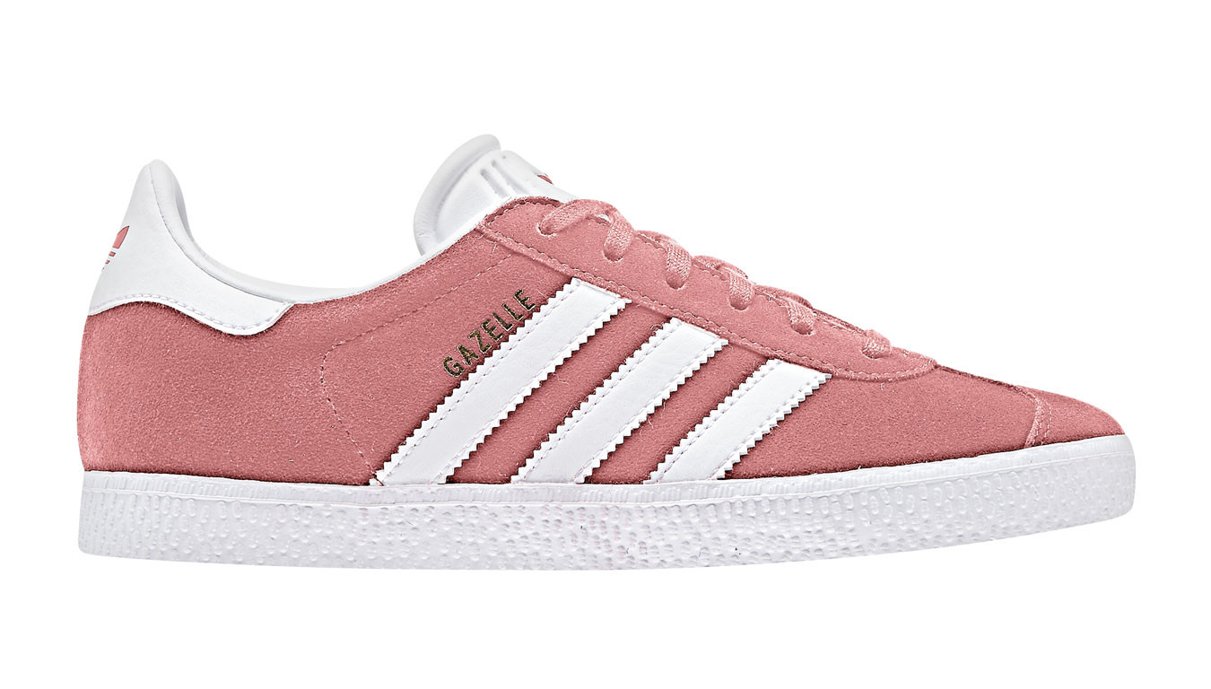 wholesale outlet detailed look latest adidas Gazelle J Tactile Rose F17