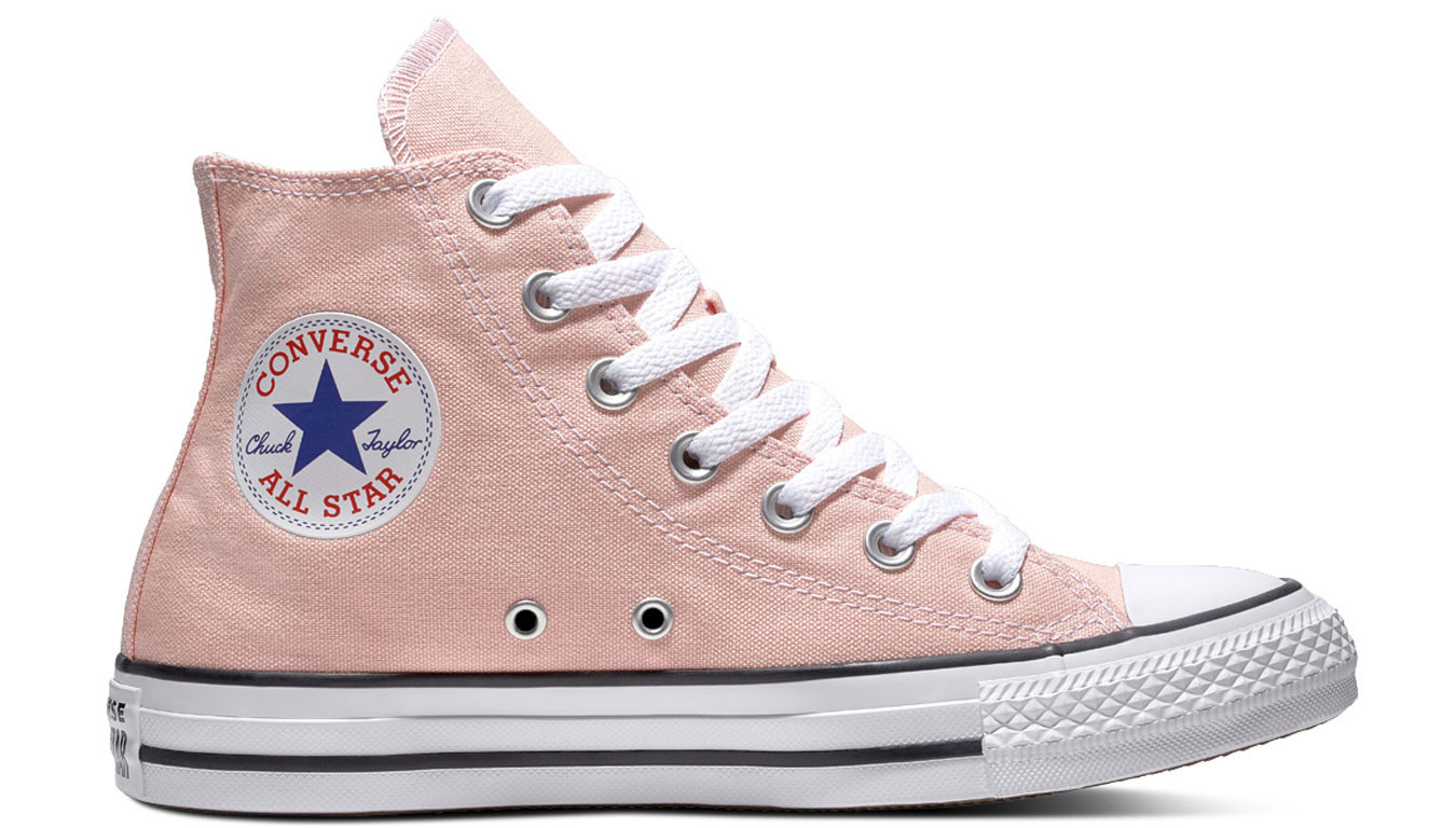 013dc9383504 Converse Chuck Taylor All Star Classic High Top Storm Pink