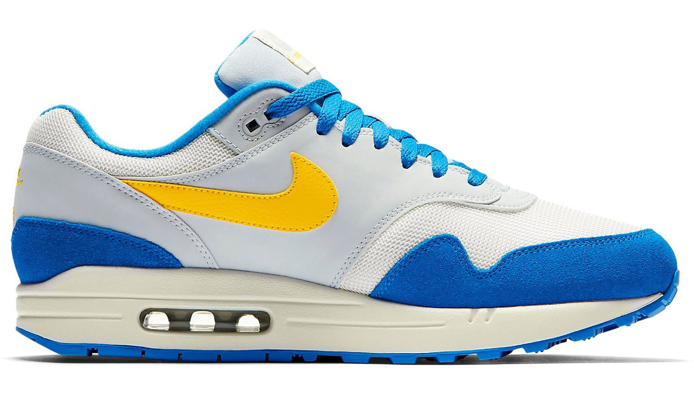 the latest 04889 c174c Nike Air Max 1 Sail Amarillo-Pure Platinum-Signal Blue AH8145-108