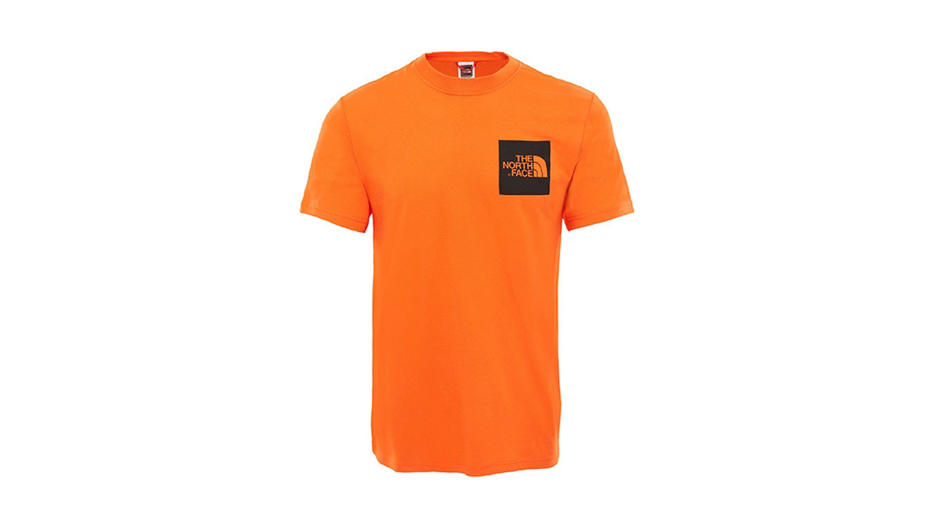 aaf45a67c The North Face M S/S Fine Tee Persian Orange