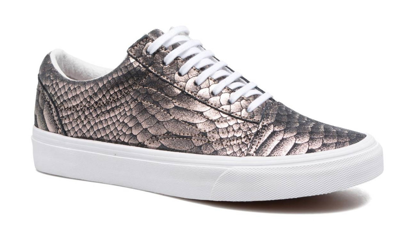5c75aa5b3ecd86 Vans Old Skool Metallic Snake Rose Gold VA38G1OF9